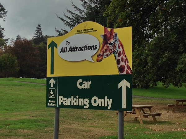 Picture of blair Drummond Safari park - Sign
