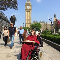 wheelchair user in front of Big Ben London