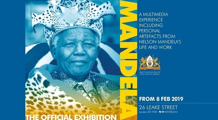 Nelson Mandela: The Official Exhibition at 26 Leake Street Waterloo