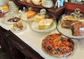 Homemade cake selection
