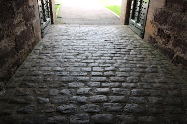 The short stretch of cobbles