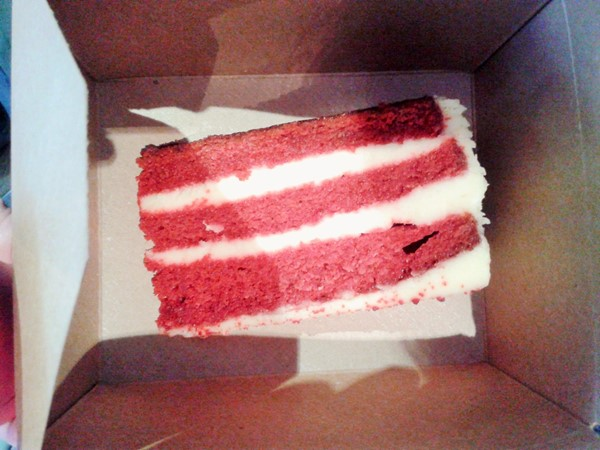 Red velvet cake (the photo does not do it justice)