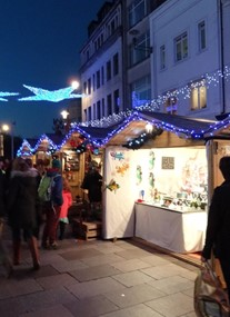 Cardiff Christmas Market at St john's Church Area