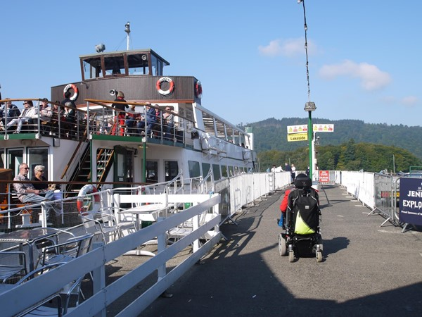 Windermere Lake Cruises - Docked boat