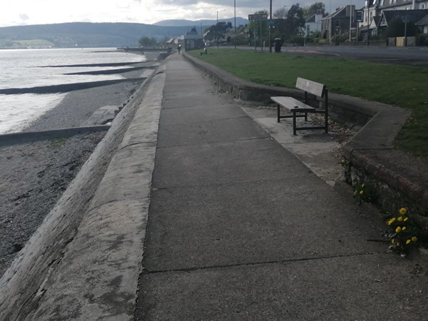 Path alongside Helensburgh Seafront