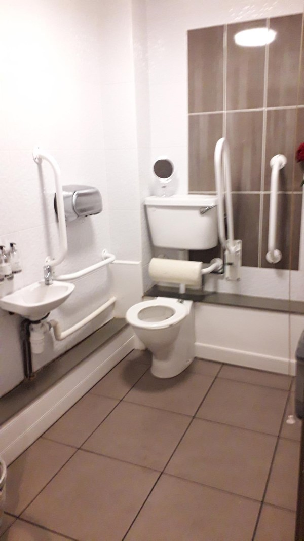 Photo of disabled toilet.