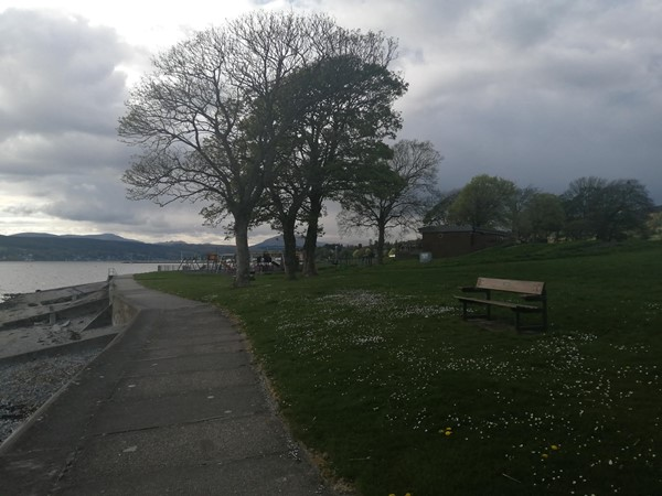 Trees and green area at Helensburgh Seafront