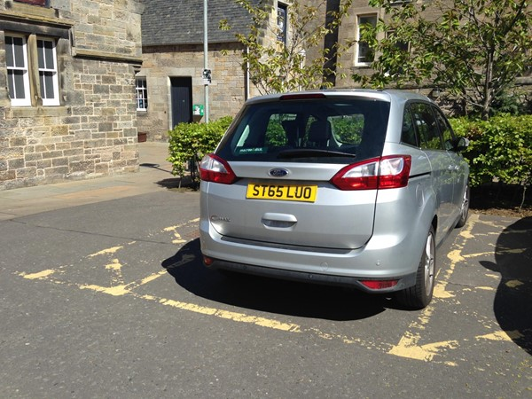 Blue Badge parking - 2 spaces.