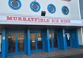The front doors of Murrayfield Ice Rink