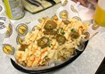 Photo of the nachos with mac 'n' cheese.