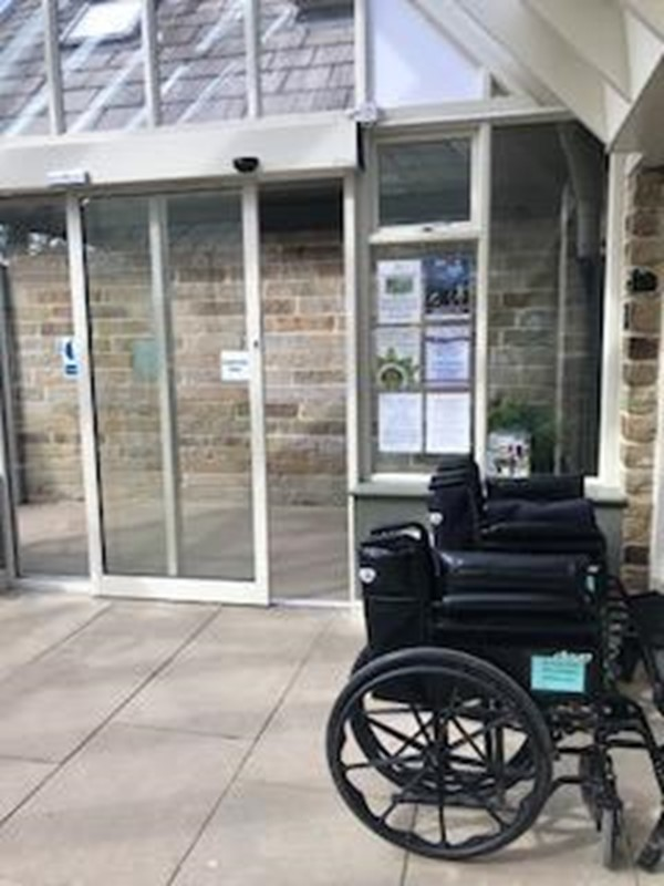 Entrance to the gardens, wheel chair availability
