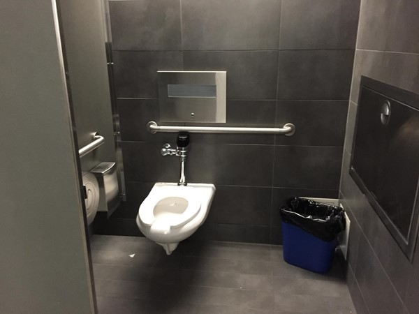Accessible loo at the Smithsonian Air & Space Museum