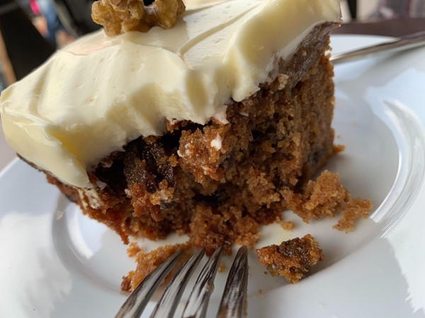 Perhaps the best carrot cake in the world.  So moist and so tasty.