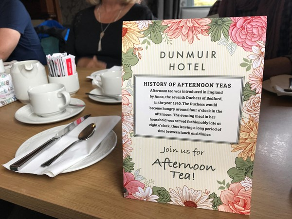 Photo of the menu at Dunmuir Hotel.