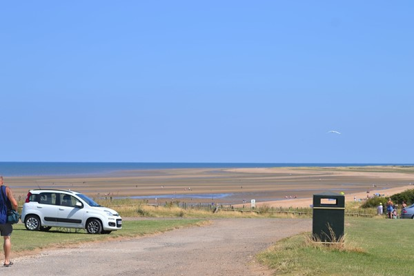 The car park at Old Hunstanton beach