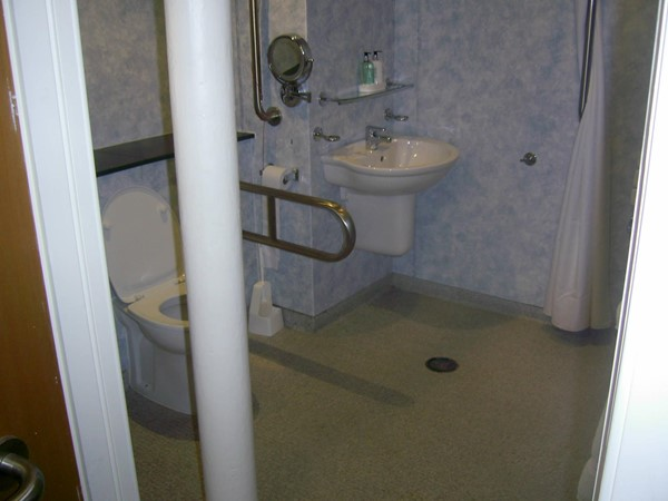Photo of the accessible loo.