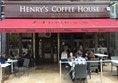 Photo of the exterior of Henry's coffee house.