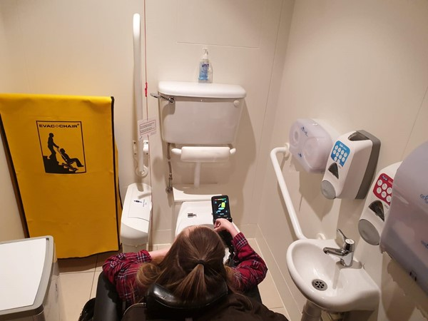 Image of accessible toilet next to the tea room.
