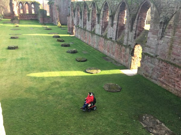 Enjoying the space of Arbroath Abbey