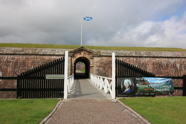 The entrance drawbridge to Fort George