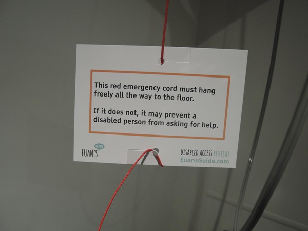 Red Cord Cards in the Changing Places toilet